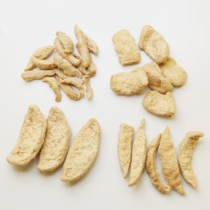 Photo of Improved Nature's PrimeProTex made into different shapes.